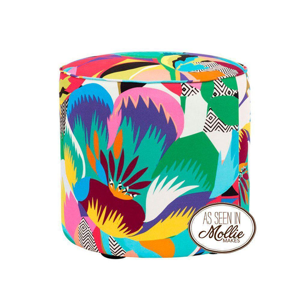 Tropicalia - Pouf-Furniture-Kitty McCall