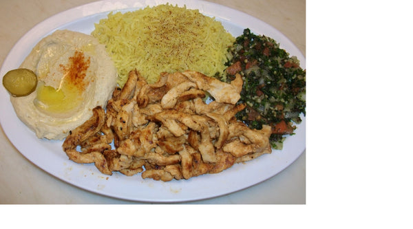 Grilled Chicken Platter - Organi Soul