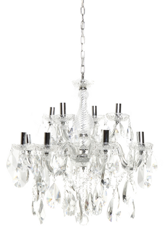 AMELIA CHANDELIER - 12 ARM - CL