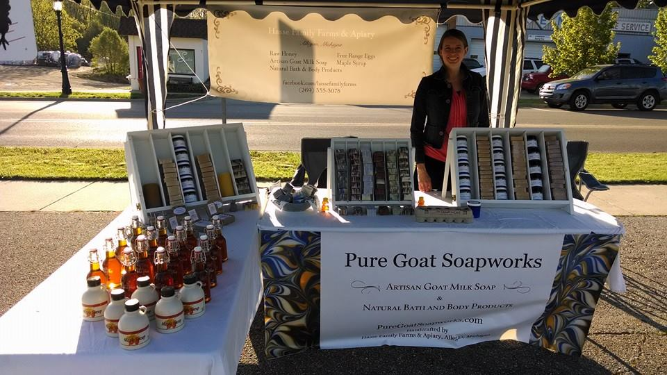 Our First Booth at the Allegan Farmers Market