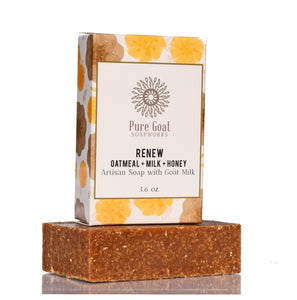 Renew - Oatmeal, Milk, + Honey Goat Milk Soap - Pure Goat Soapworks