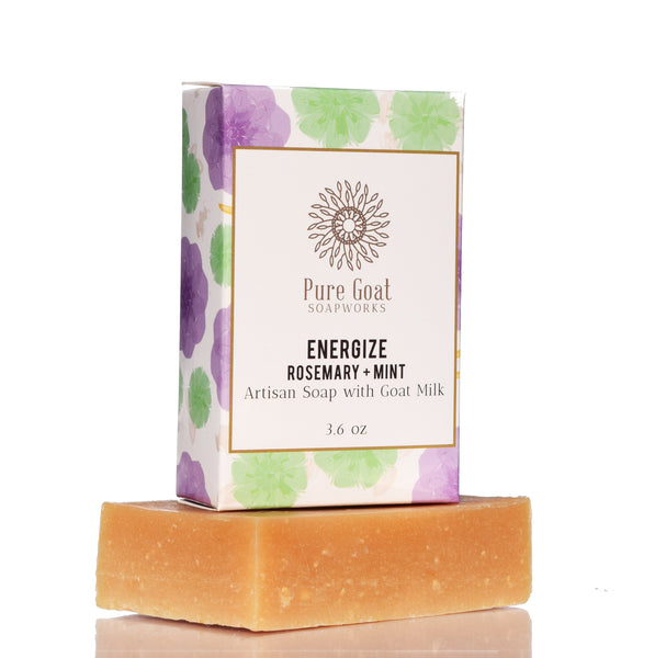 Energize Rosemary + Mint Goat Milk Soap