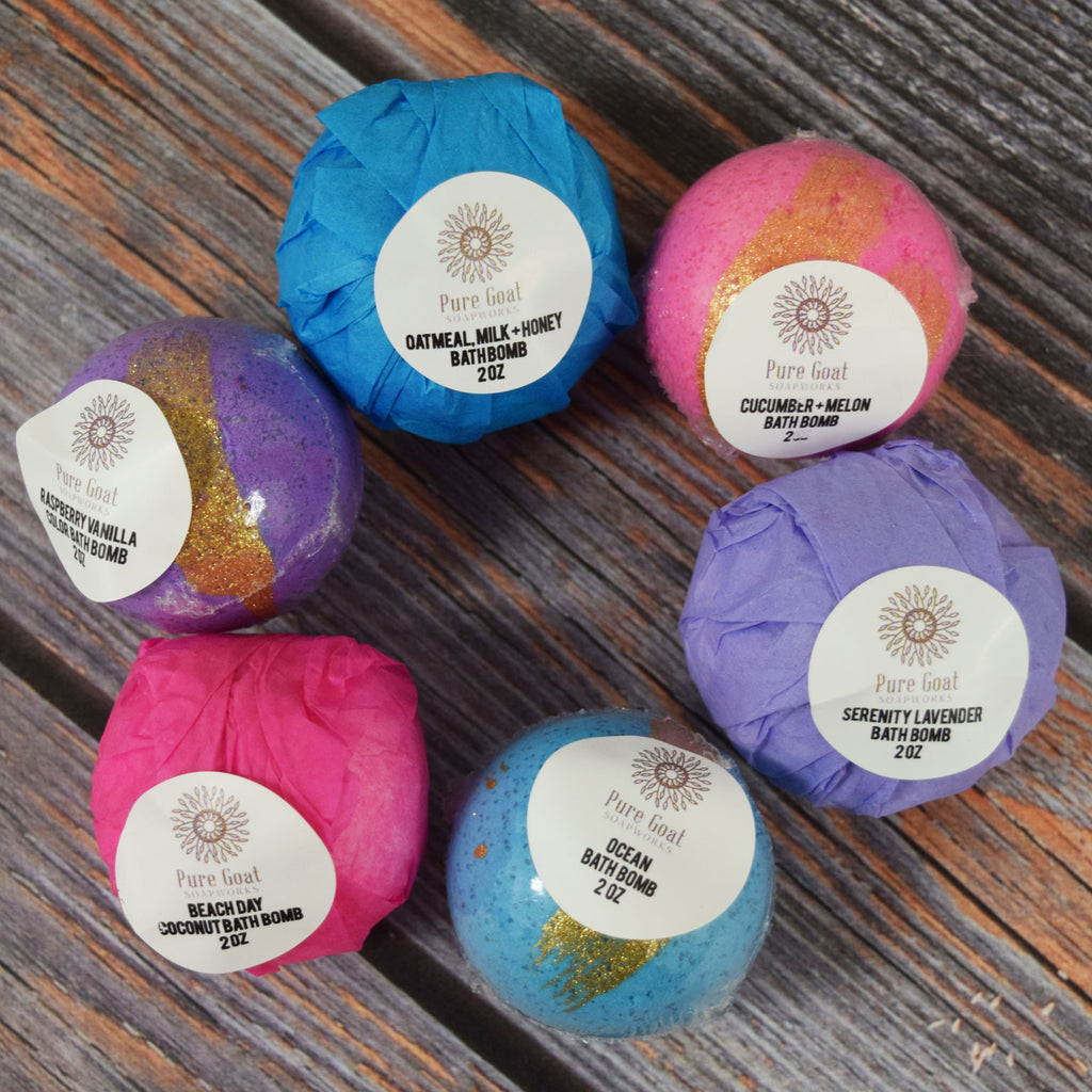 Bath Bomb Set of 6 - Pure Goat Soapworks