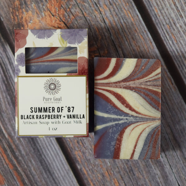 Summer of '87 - Black Raspberry Vanilla Goat Milk Soap - Pure Goat Soapworks