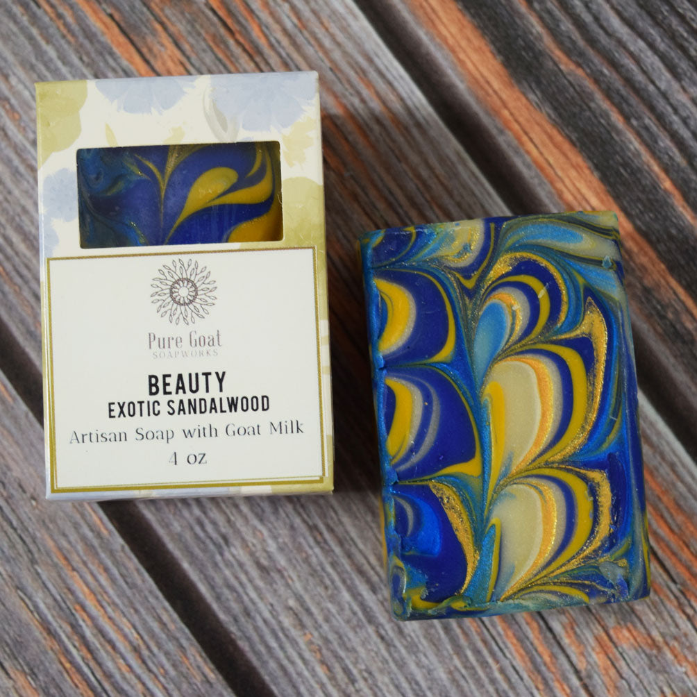 Beauty - Exotic Sandalwood Goat Milk Soap - Pure Goat Soapworks
