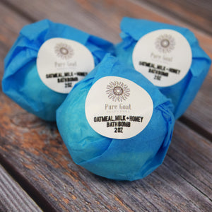 Natural Spa Bath Bomb Set of 3 - Pure Goat Soapworks