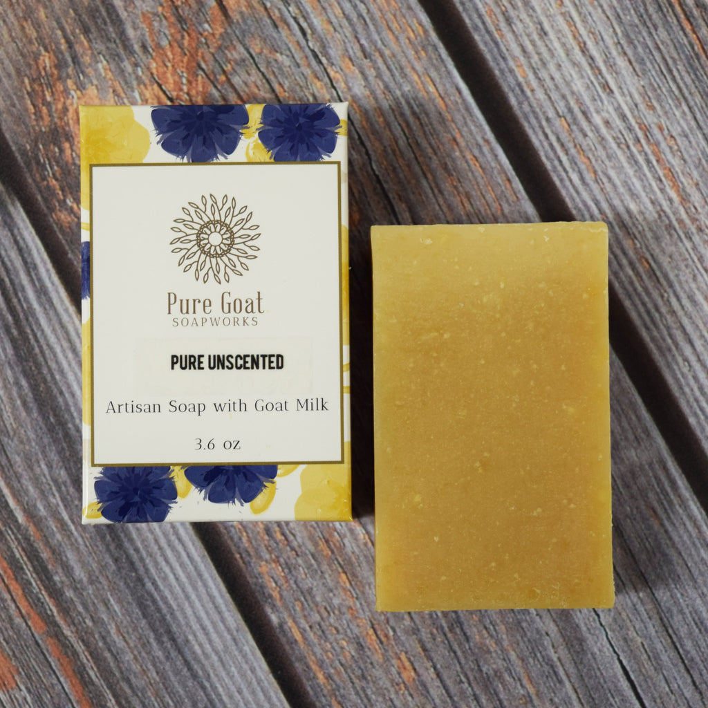 Pure Unscented Goat Milk Soap - Pure Goat Soapworks