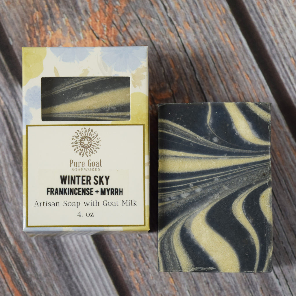 Winter Sky - Frankincense + Myrrh Goat Milk Soap - Pure Goat Soapworks