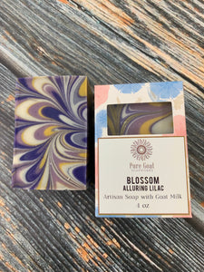 Blossom - Alluring Lilac Goat Milk Soap - Pure Goat Soapworks
