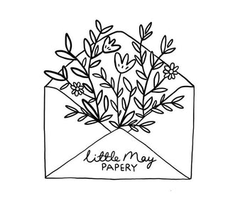 Little May offers whimsical custom portraits,  watercolour wedding invitations, charmingly cheeky greeting cards and other lovely paper goods.