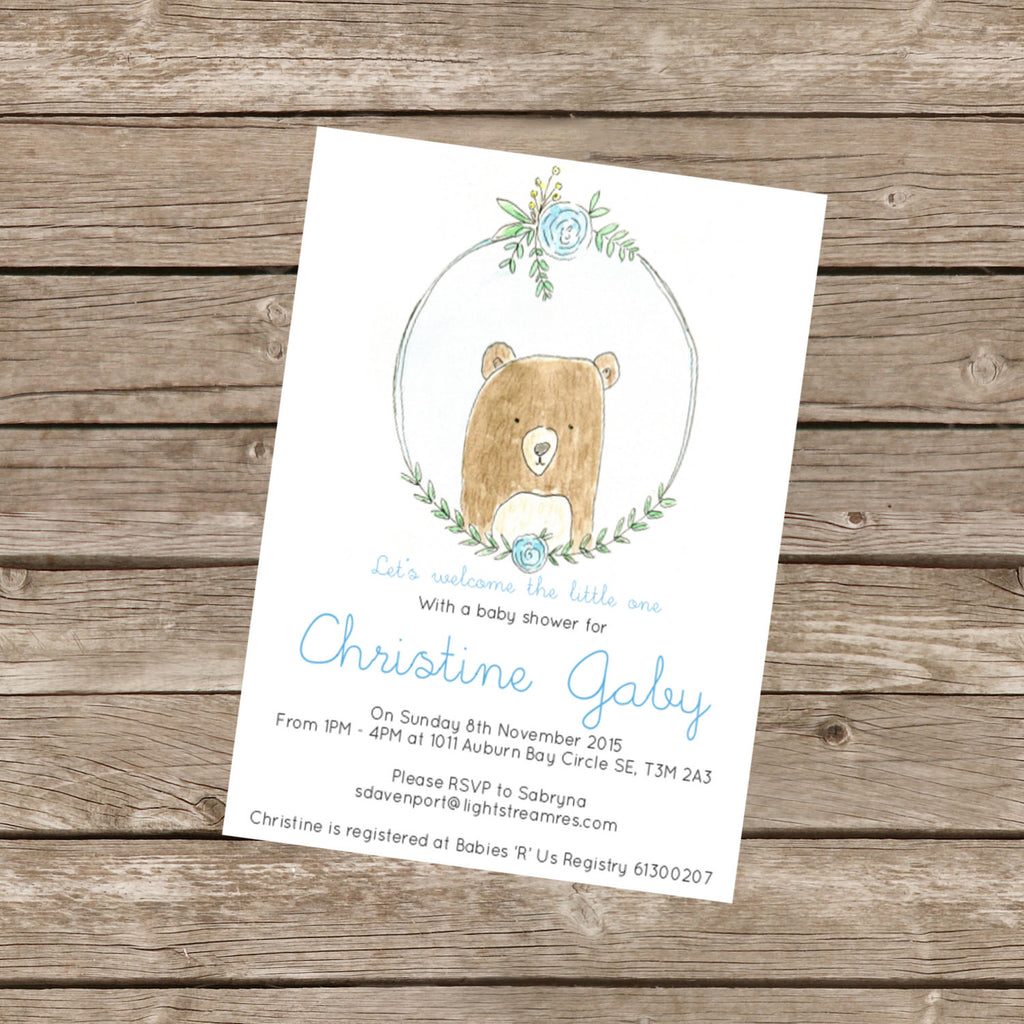 Semi-Custom Baby Shower Invitation