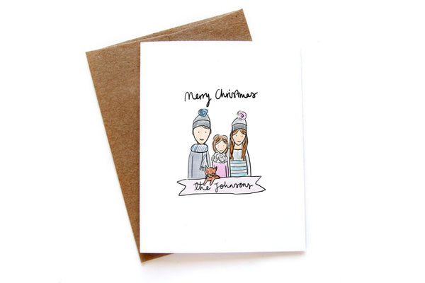 Head + Shoulders Custom Christmas Cards