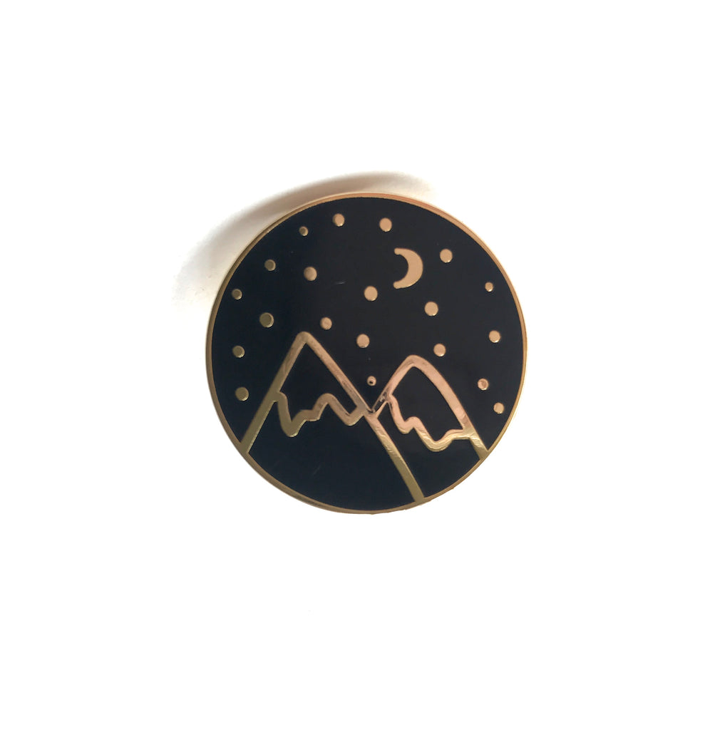 Gold Mountain Hard Enamel Pin
