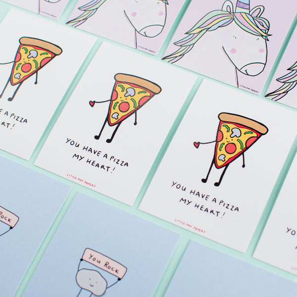 Little Flat Pizza Notecards (Lunchbox notes)