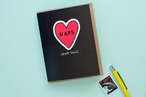 I Love Naps + You (Vinyl Sticker Greeting Card)