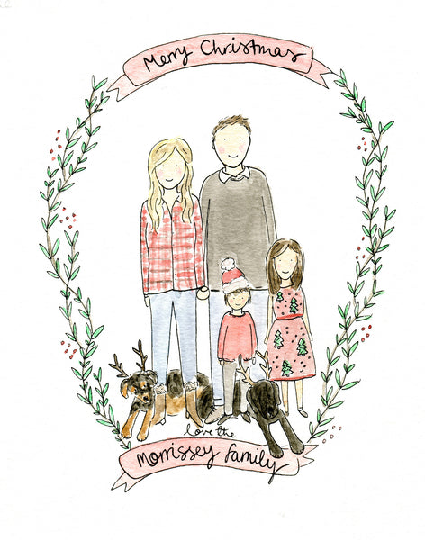 Custom Family Portrait: January/February Delivery