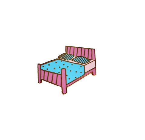 Bed Enamel Pin