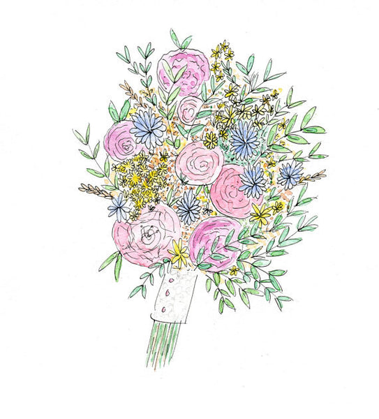 Wedding Bouquet Illustration