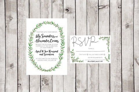 The Olive Invitation + RSVP