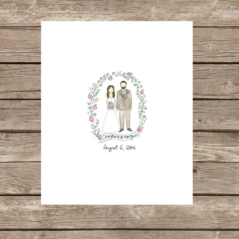 Wedding Guestbook Portrait