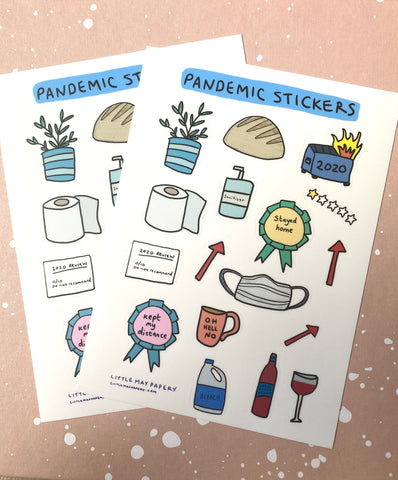 Limited Edition Pandemic Sticker Sheet