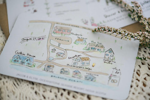 Add on: Wedding Map Illustration {Design Fee}