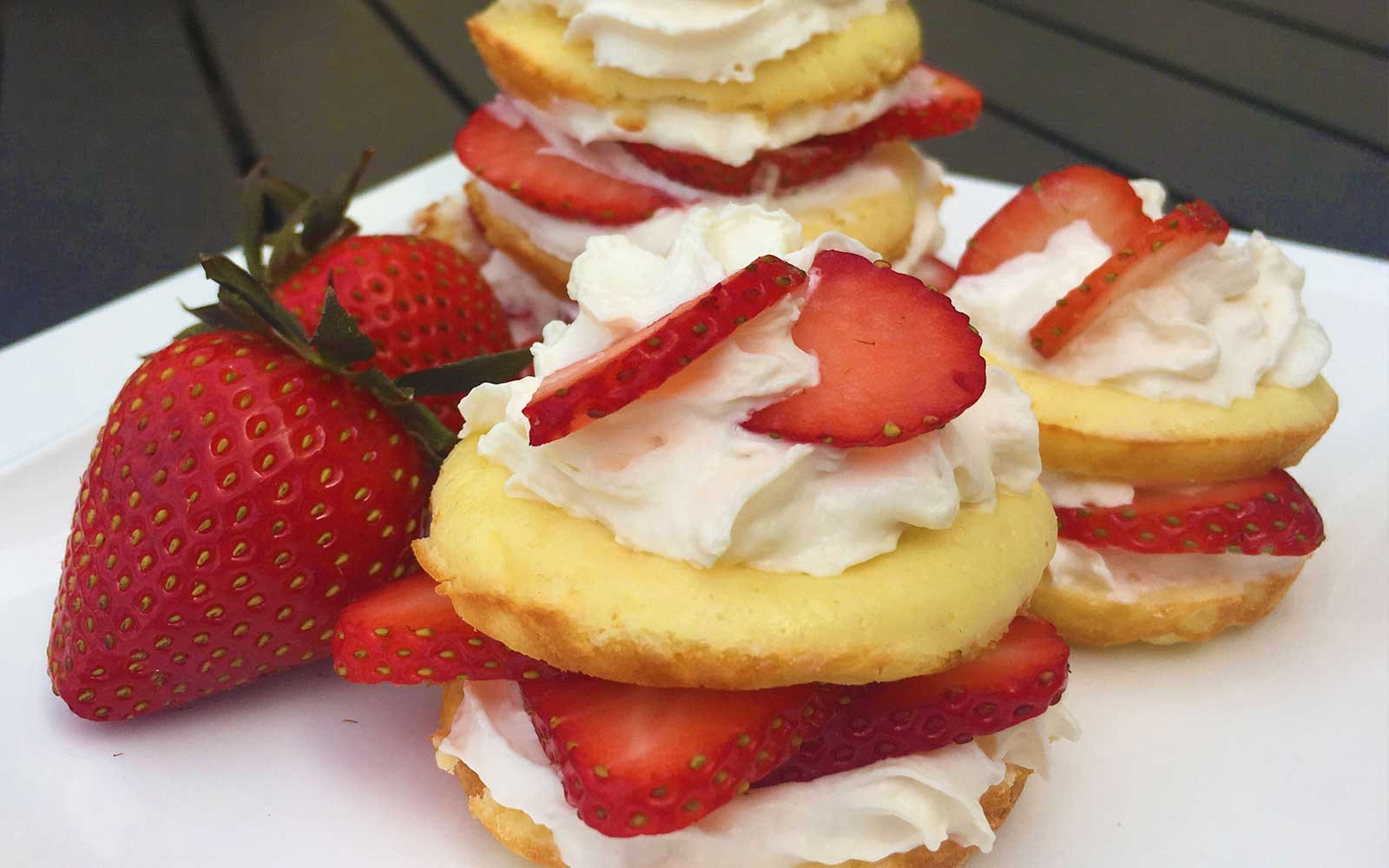 Low sugar High Fiber Strawberry Shortcake