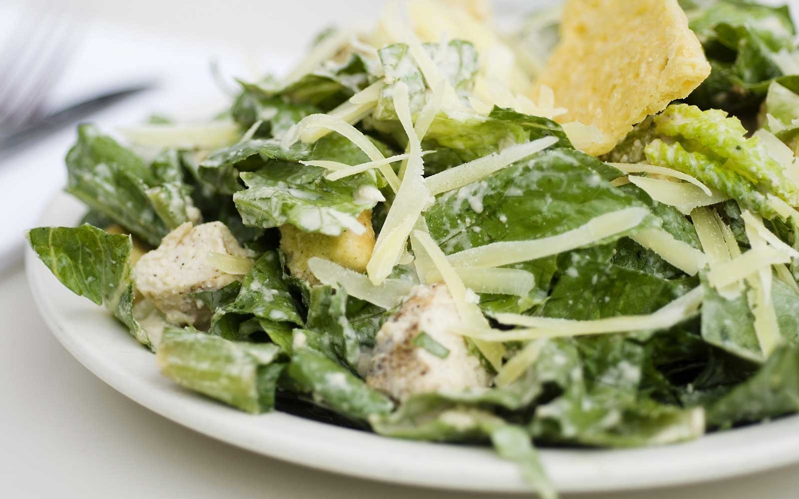 High Protein Creamy Chicken Caesar Salad