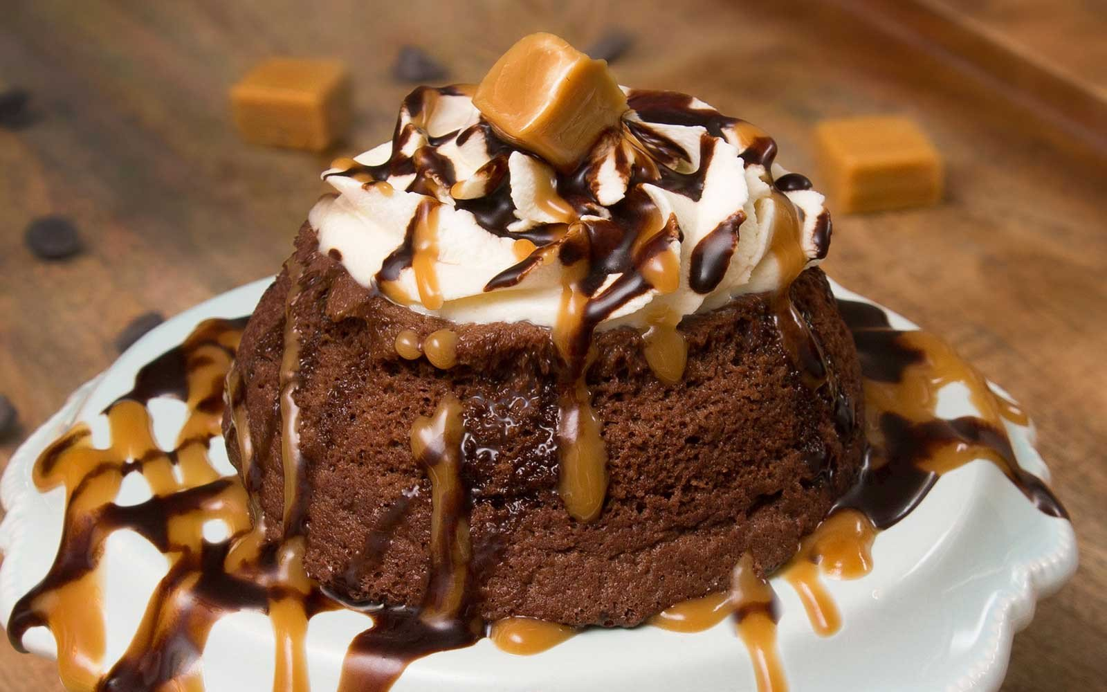 Delicious Low Sugar Chocolate Caramel Mug Cake