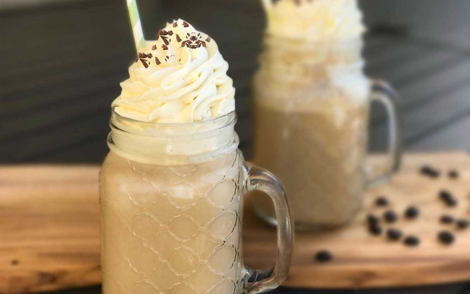 Low Sugar DIY Starbucks White Chocolate Protein Frappuccino