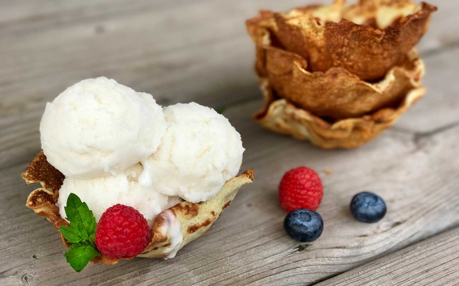 Crispy Low Carb Protein Waffle Bowls