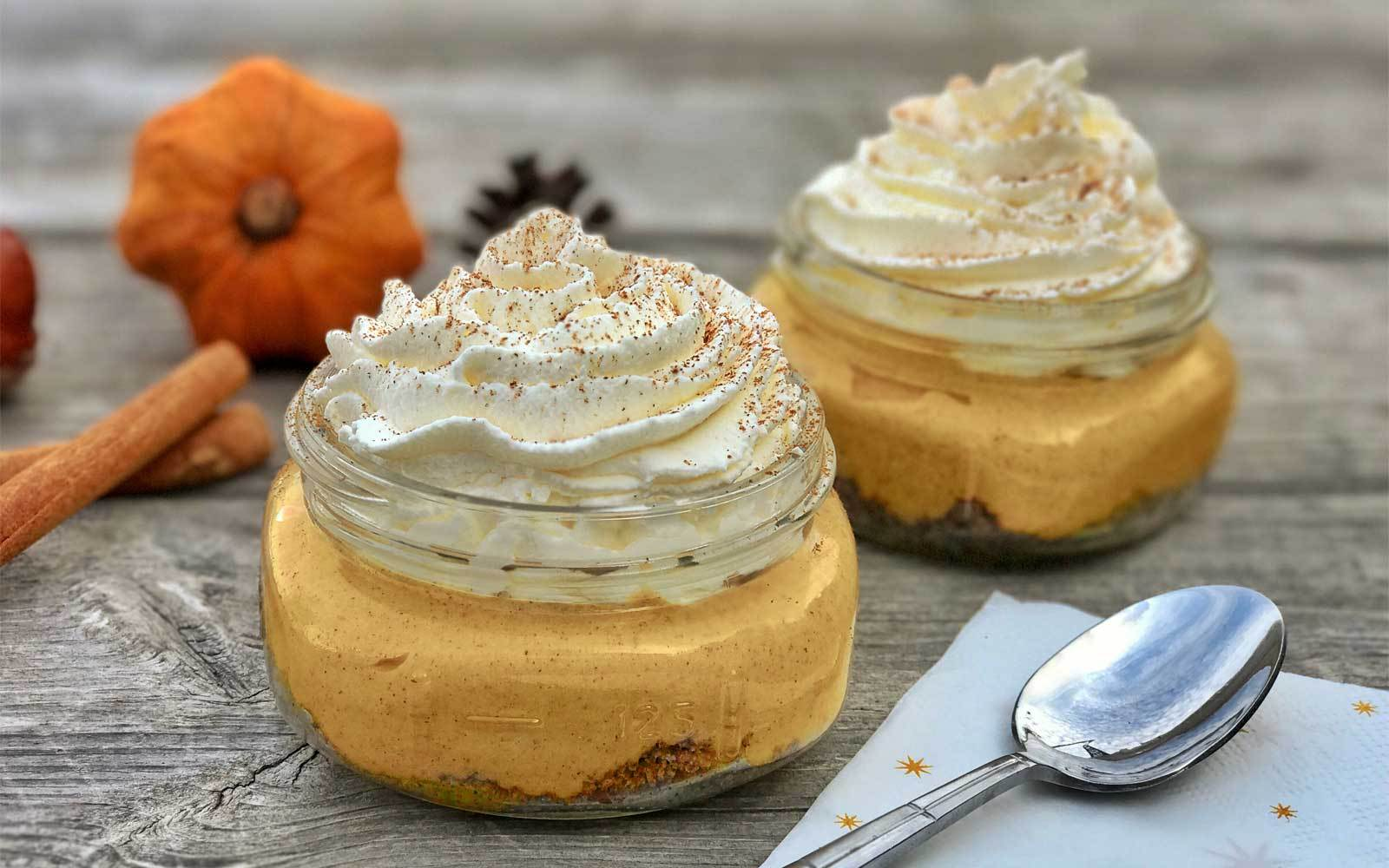 Mouth-watering No Bake Protein Pumpkin Cheesecake