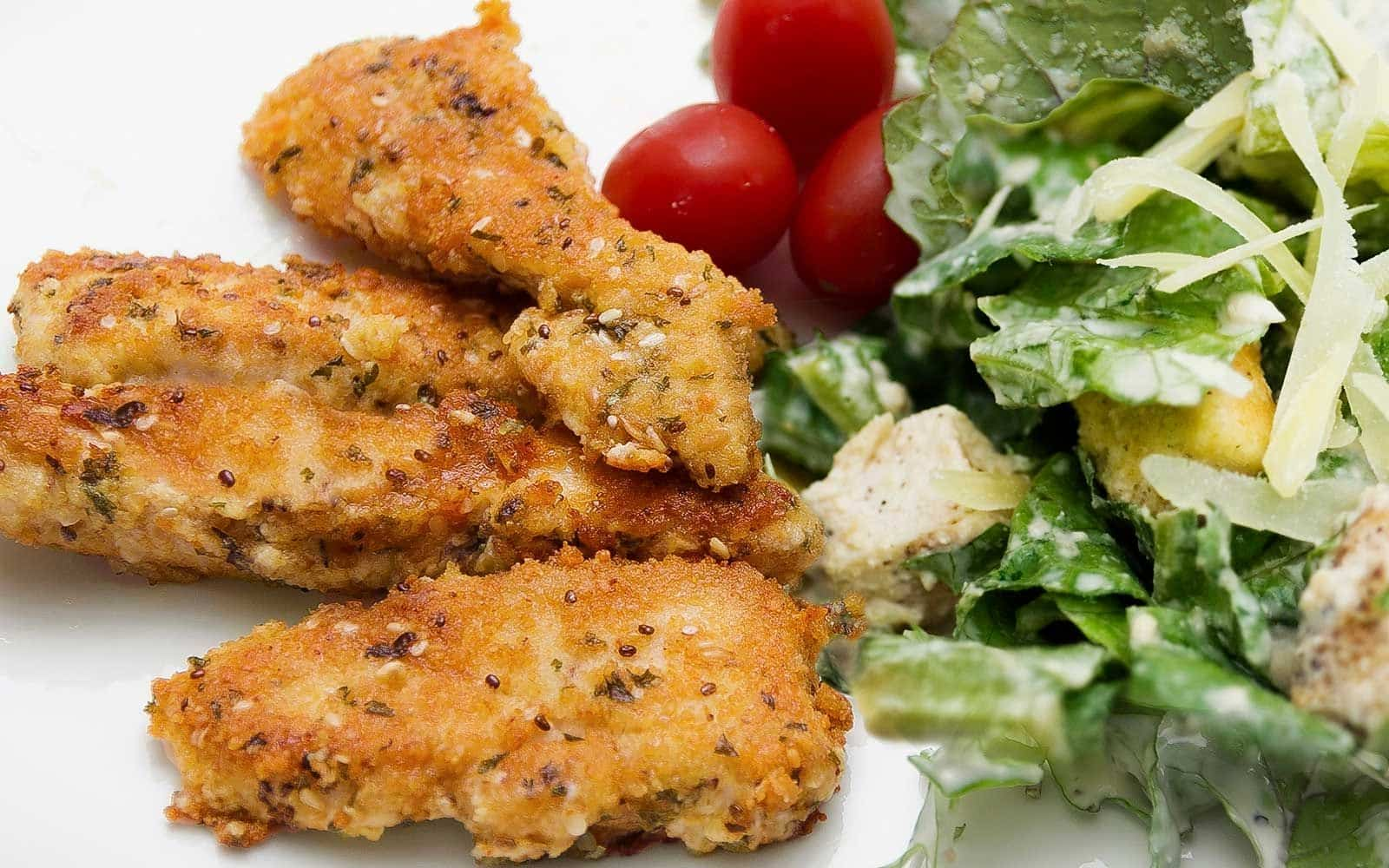Healthy Family Dinner: Crispy Chicken Fingers