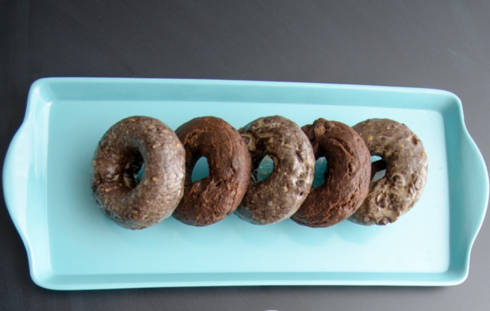 Glazed Chocolate Peanut Butter Donuts