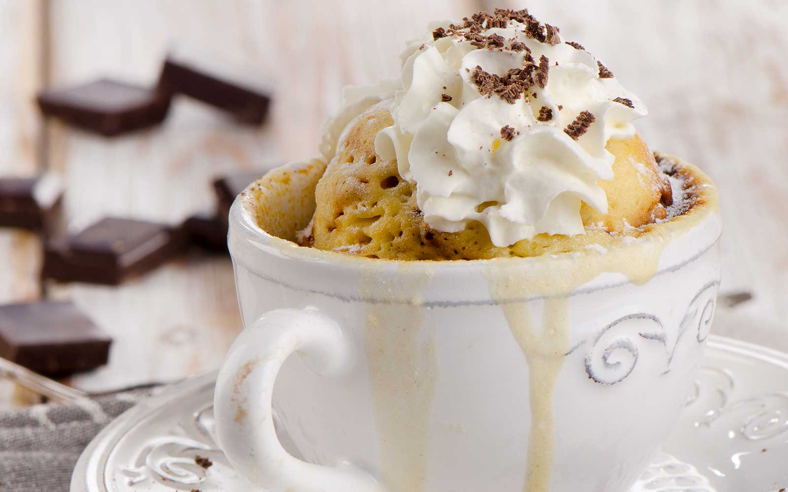 Decadent 60 Second Vanilla Microwave Mug Cake Nutracelle