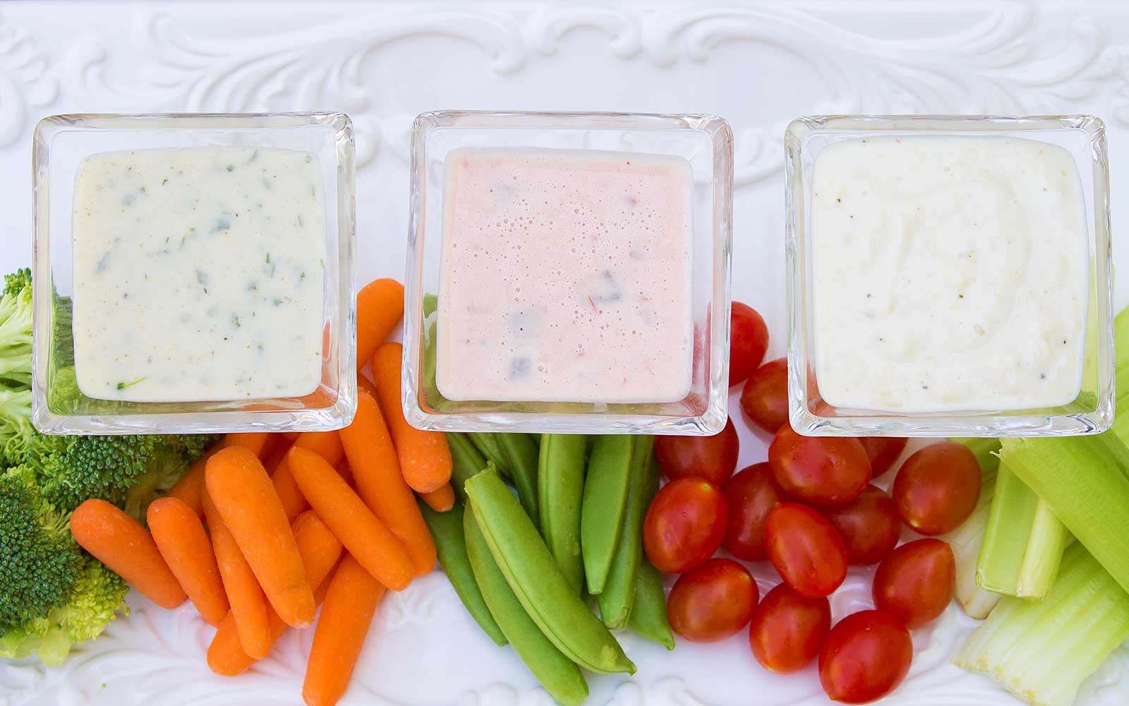 High Protein Vegetable Dips