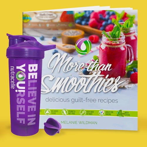 Nutracelle Extras Cookbooks Shaker Cups