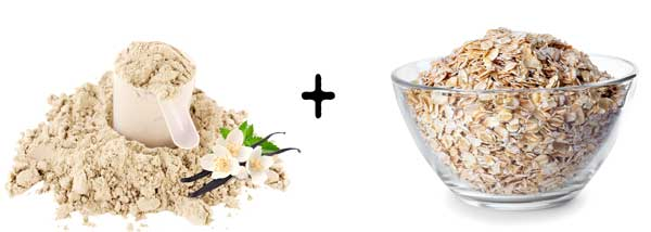vanilla cream nutralean scoop bowl oatmeal quick oats porridge
