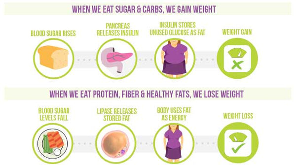 infographic Nutracelle sugar and carbs