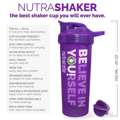 Nutracelle Nutrashaker Best Shaker Bottle for Protein Powder Drinks Benefits