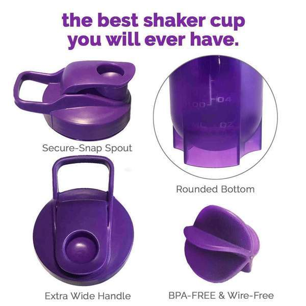 NutraShaker Best Shaker Bottle for Protein Powder Shakes & Drinks