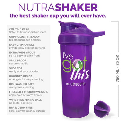 NUTRASHAKER Best Shaker Bottle for Protein Powder Drinks