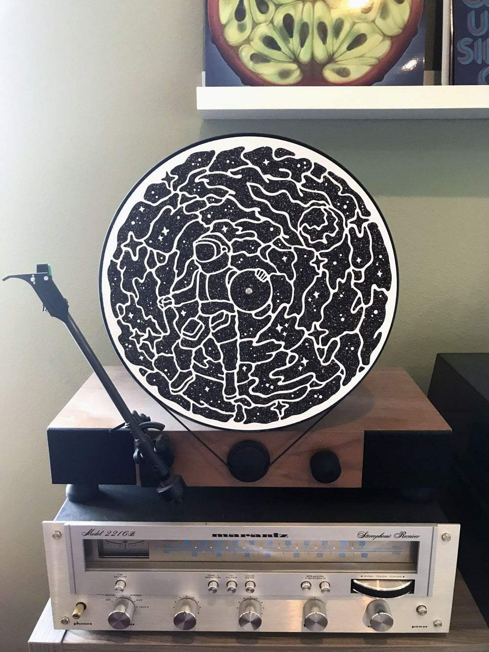 Deluxe VM Moonman Cork Turntable Mat - VINYL MOON
