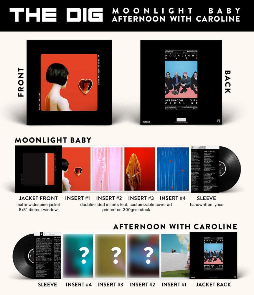 The Dig - 'Moonlight Baby / Afternoon With Caroline' Double EP - VINYL MOON
