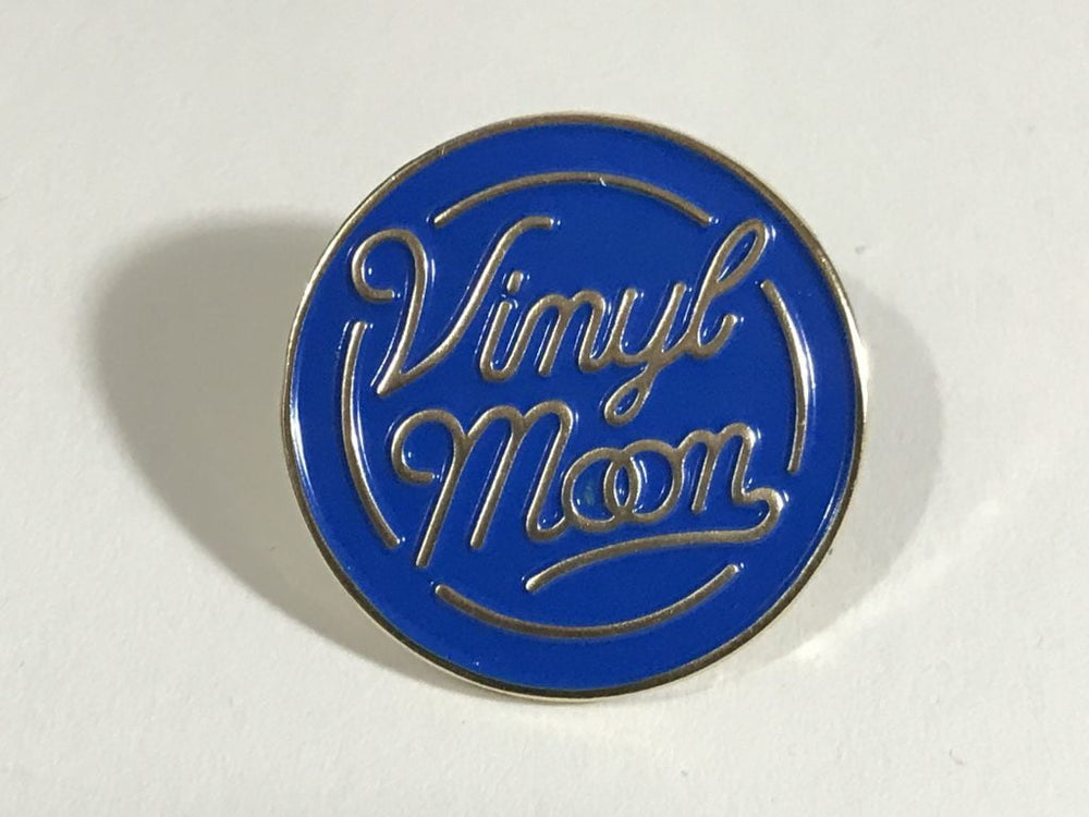 VINYL MOON Enamel Pin - VINYL MOON