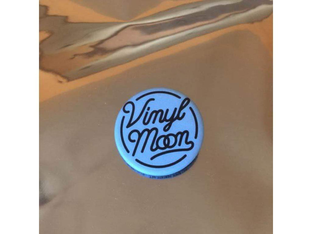 VINYL MOON Logo Button (Matte Blue) - VINYL MOON