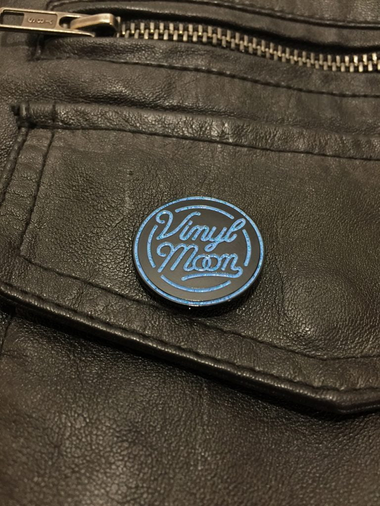 VINYL MOON Enamel Pin