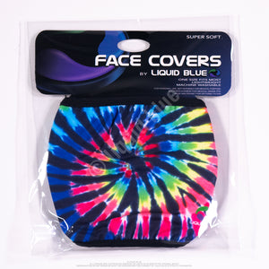 Rainbow Spiral Streak Face Covering