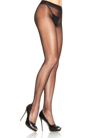 Spandex BLACK SHEER Waist Support Pantyhose (Leg Avenue)