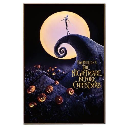 Nightmare Before Christmas Jack Skellington Movie Wooden Plaque Poster
